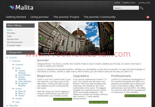 Malita Business Joomla 2.5 Template