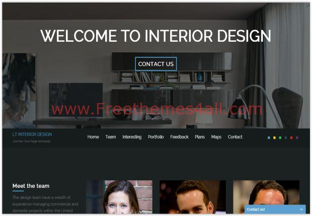 Interior Design Joomla 3 Template