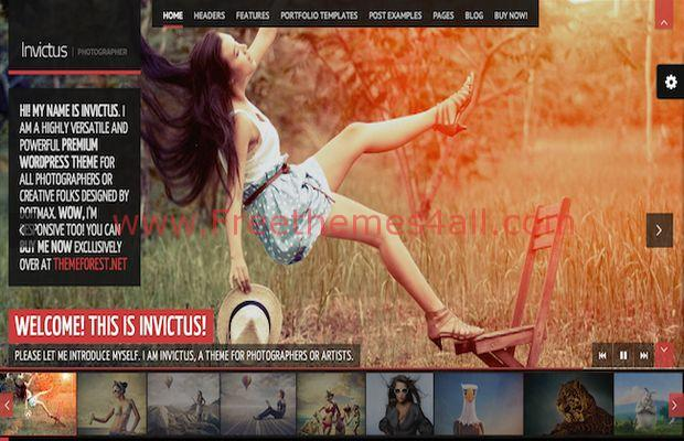 Premium Photographer Wordpress Theme