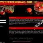 Black Strawberry Red Drupal Theme