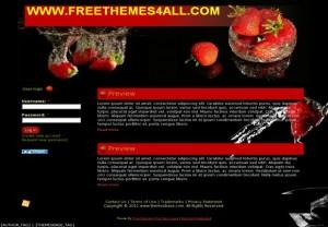 Black Strawberry Red Drupal Theme