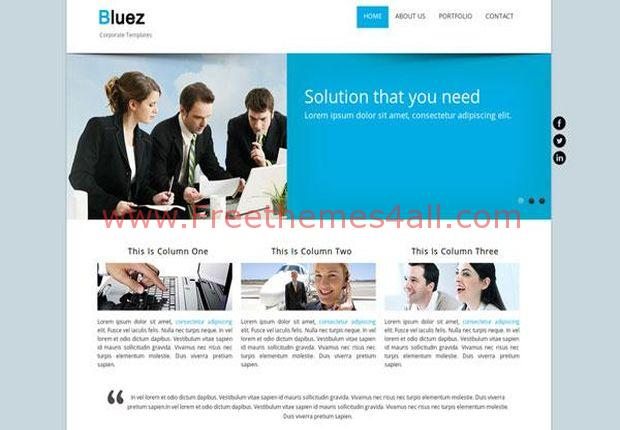 Business Blue Responsive Drupal Theme
