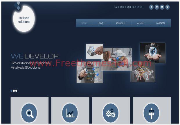 Blue Joomla 3 Business Template