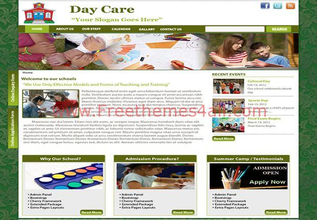 Free Floral Green Charity Drupal 7 Theme Freethemes4all