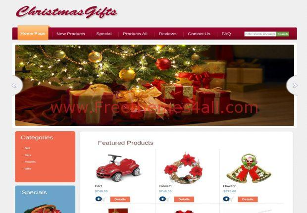 Colorful Christmas Zen Cart Template