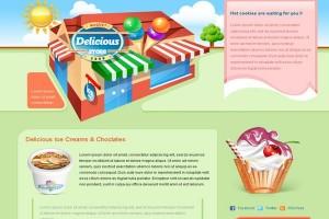 Cute Delicious Store Blogger Template
