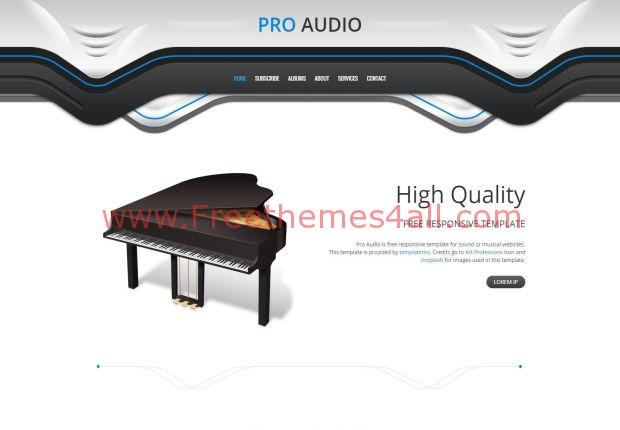 Responsive Music CSS3 Template