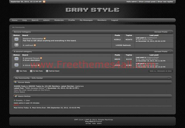 Abstract Dark Gray SMF Theme