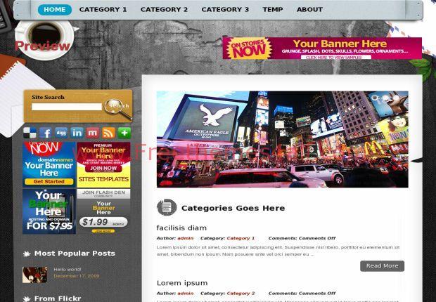 Grunge Art Wordpress Theme