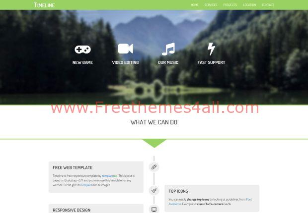 Bootstrap Responsive Nature CSS3 Template