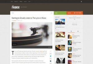 Responsive Magazine Blog Wordpress Theme