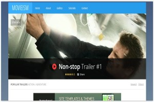 Responsive Blue Blogger Movies Template