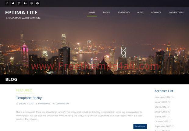 Responsive Wordpress Parallax Theme