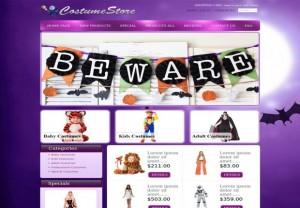 Halloween Purple Zen Cart Template