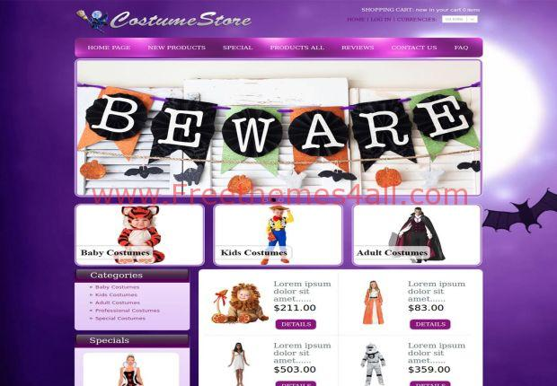 Halloween Purple Zen Cart Template