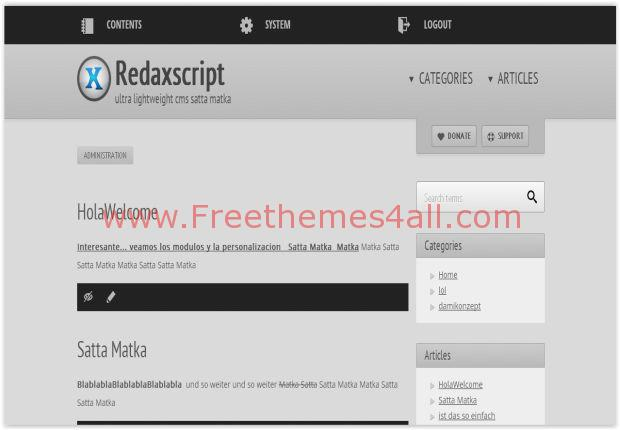 RedaxScript Free CMS Script