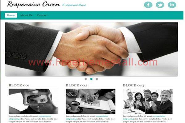 Clean Green Drupal Responsive Theme