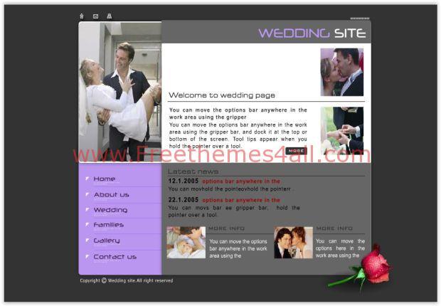 Abstract Purple Wedding Flash Template