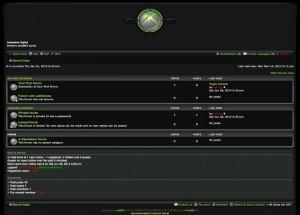 Dark Black Xbox Phpbb Style