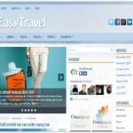 Blue Responsive Travel Wordpress Theme