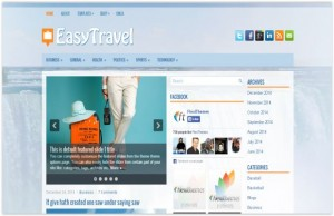 Blue Responsive Travel Wordpress Theme
