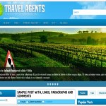Responsive Blue Travel Blogger Theme