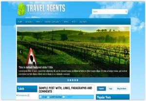 Responsive Blue Travel Blogger Theme