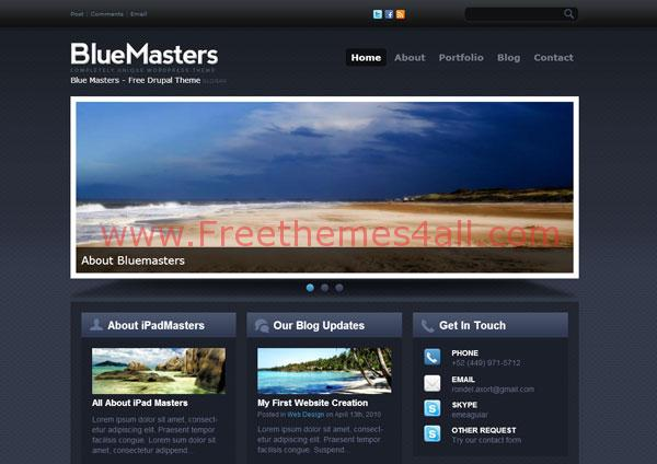 Abstract Responsive Blue Drupal Theme