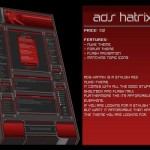 Dark Red Black Phpnuke Theme Template