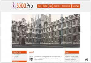 Responsive Orange School Joomla 3 Template