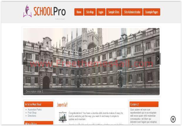 Responsive Orange School Joomla 3 Template