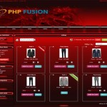 Abstract Red Store Phpfusion 7 Theme