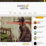 Classic Yellow Magazine Blogger Theme