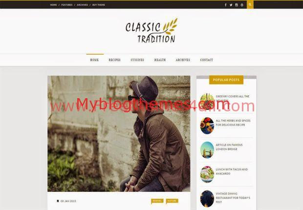 Classic Yellow Magazine Blogger Theme Download