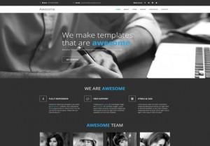 Responsive HTML5 Grey Website Template