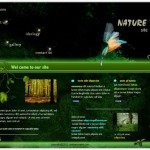 Black Green Nature Flash Template