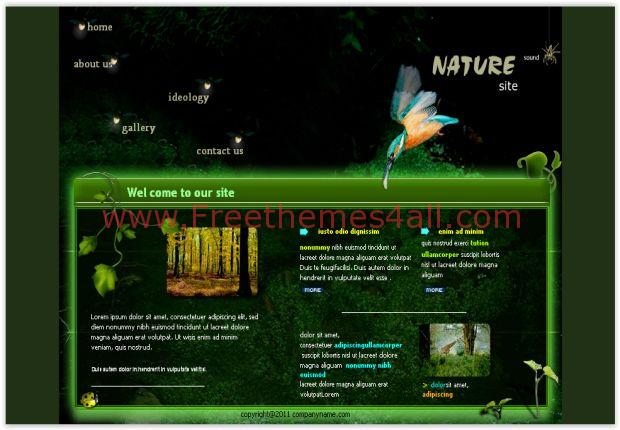 Black Green Nature Flash Template