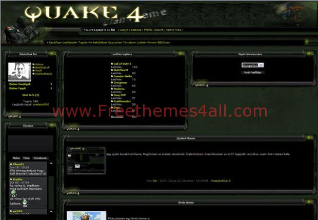 Green Clan Quake E107 Theme