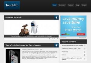 Responsive Touch Pro Blue Drupal 7 Theme