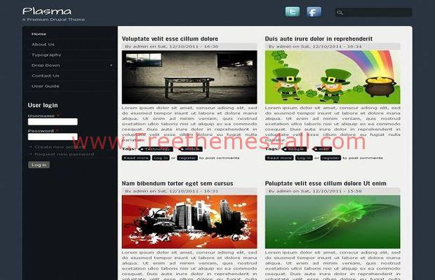 Abstract Blurry Magazine Drupal 7 Theme