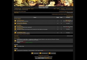 Golden Black Anime Phpbb Theme