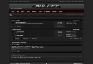 Fluid Bullet Dark Grunge SMF Theme