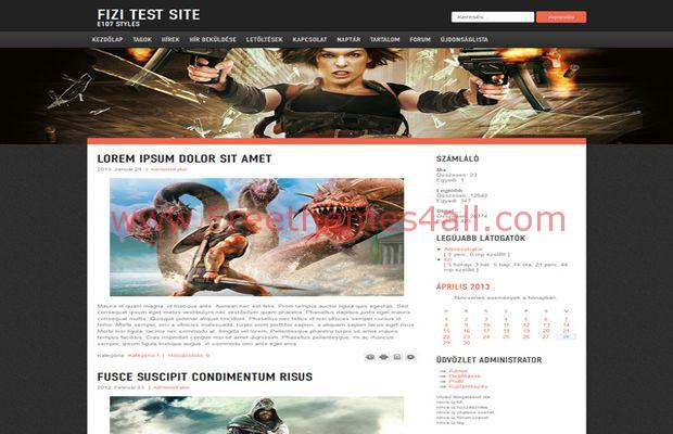 Abstract Free Responsive Gaming E107 Theme