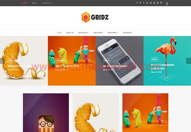 Magazine Responsive Blogger Grid Template