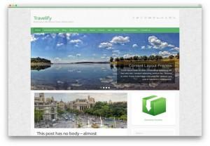 Green Free Wordpress Travel Agency Theme