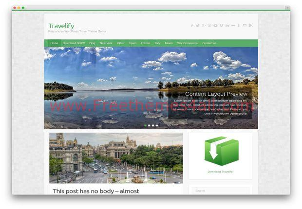 Green Free Wordpress Travel Agency Theme