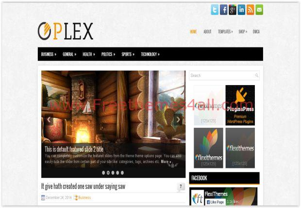 Free Responsive Business WordPress Grunge Theme