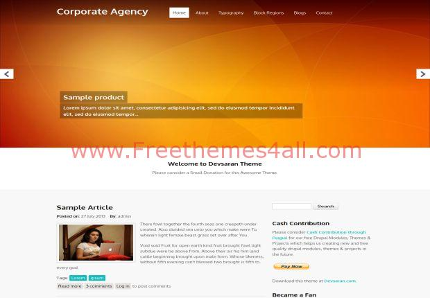 Responsive Corporate Drupal 7 Theme