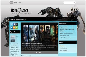 Silver Blue Gaming Blogger Template