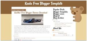 Brown Yellow Free Koala Blogger Template